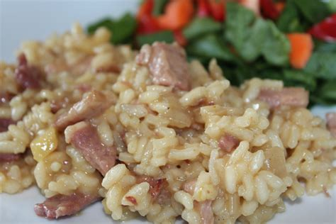 ham risotto rita barton carmelized onion ham apple risotto