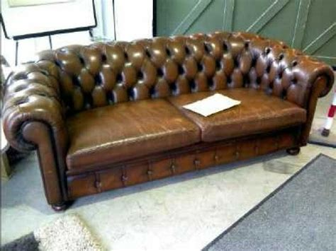 photos canap 233 chesterfield cuir occasion