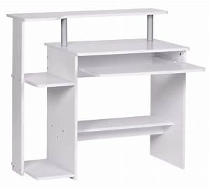 Kleine Küchenzeile Günstig : computertisch aus metall in wei mit glas g nstig ~ Indierocktalk.com Haus und Dekorationen