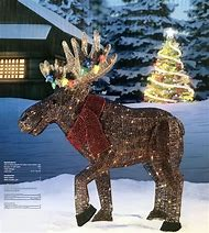lighted moose christmas yard decorations