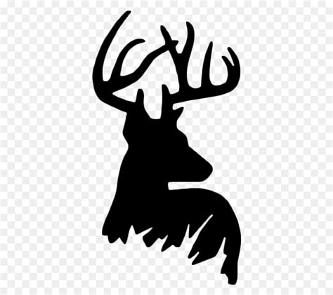 whitetail deer silhouette   clip art