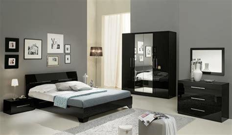 chambre avec lit noir chambre complete gloria noir