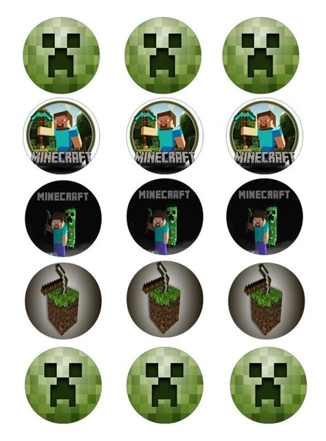 minecraft edible image cupcake toppers minecraft