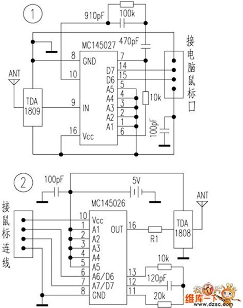 Wiring Diagram For Computer Mouse by Wireless Mouse Circuit Computer Related Circuit
