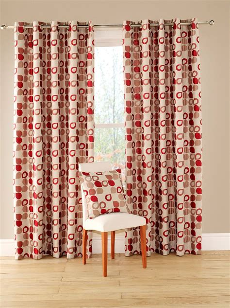 Red Geometric Pattern Curtains  Home Design Ideas
