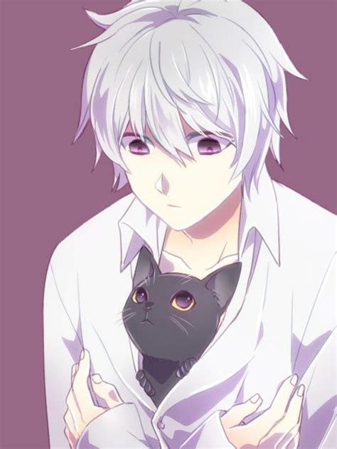 anime boy with cat near with a cat 3 deathnote note