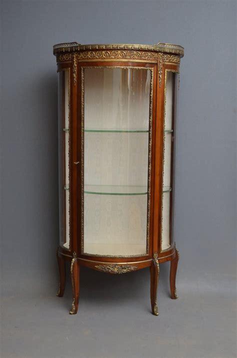 Continental Display Cabinet  Vitrine  Antiques Atlas