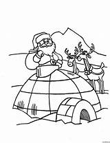 Coloring Igloo Pages Christmas Printable Getcoloringpages sketch template