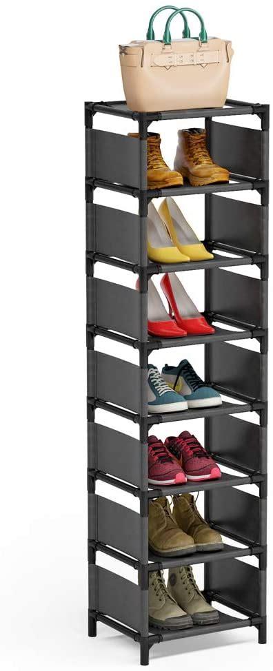 7 tiers vertical shoe rack narrow shoe shelf space