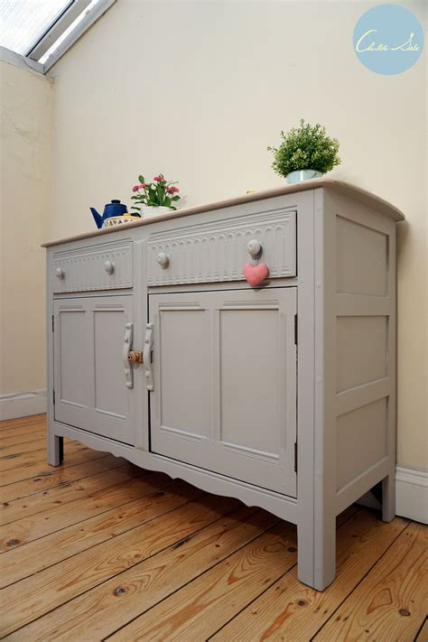 ercol sideboard  painted  laura ashley dark dove grey