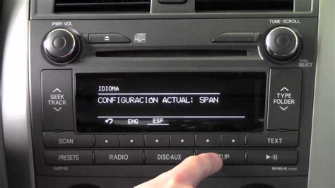 toyota corolla bluetooth  radio language