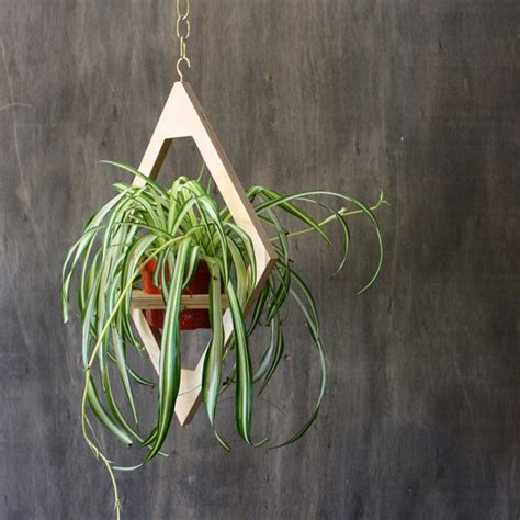 hanging indoor planter modern hanging planter mid century plant stand geometric