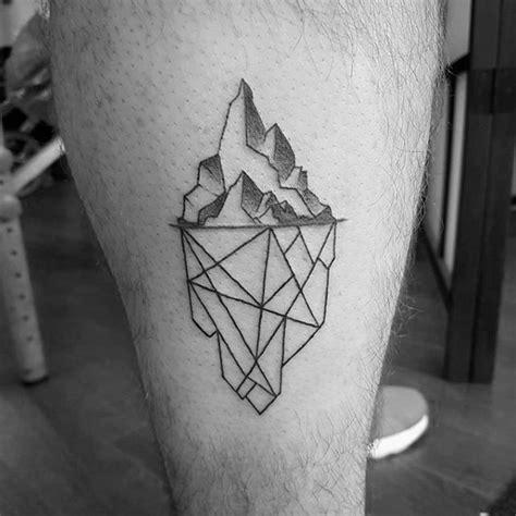 iceberg tattoos  men floating ice design ideas