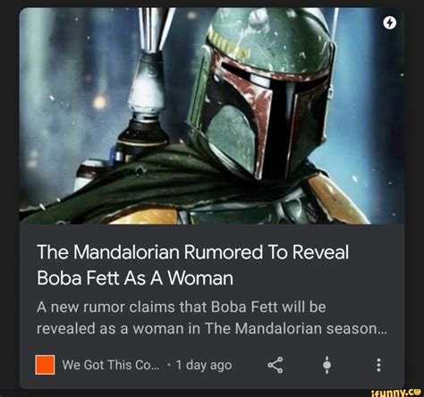The Mandalorian Rumored To Reveal Boba Fett As A Woman A ...