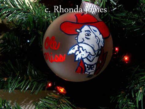 ole miss rebels university of mississippi ornament