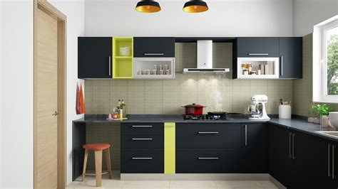 modular kitchen design l shape l shaped modular kitchen designs india homelane Indian