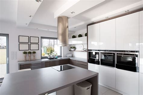 white and gray kitchen 28 modern white kitchen design ideas photos designing idea Modern