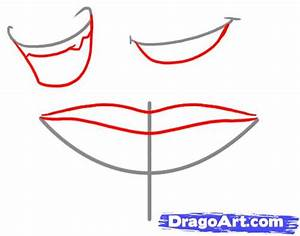 Smiling Lips Drawing