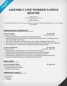 tips for drafting factory worker resume With factory resume