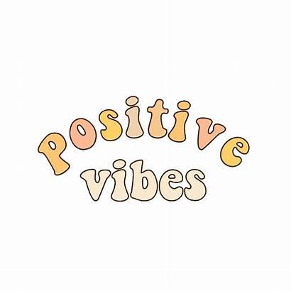 Vibes Aesthetic Happy Hippie Sticker