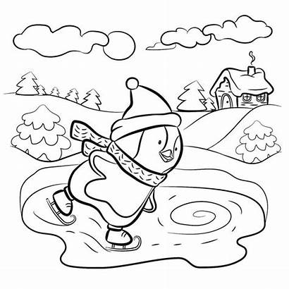 Coloring Winter Pages Penguin Cool