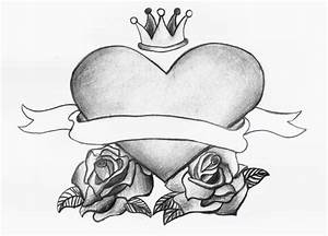 Old school heart and roses by ShaesTattooedHeart on DeviantArt