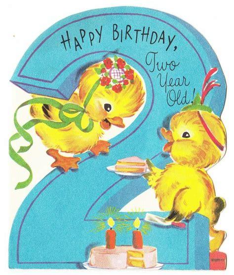 vintage baby card vintage baby ducks  cake  year
