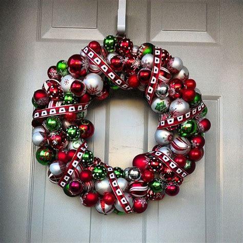 how to make wreath with christmas balls christmas ball wreath