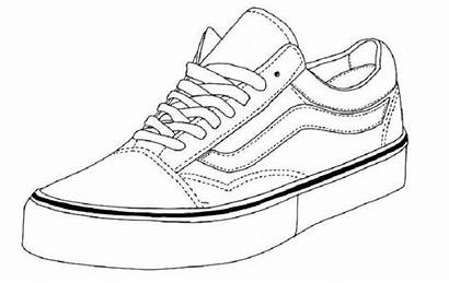 Vans Coloring Shoe Shoes Pages Drawing Sneaker