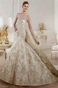 gold wedding dresses white and gold wedding dress naf dresses
