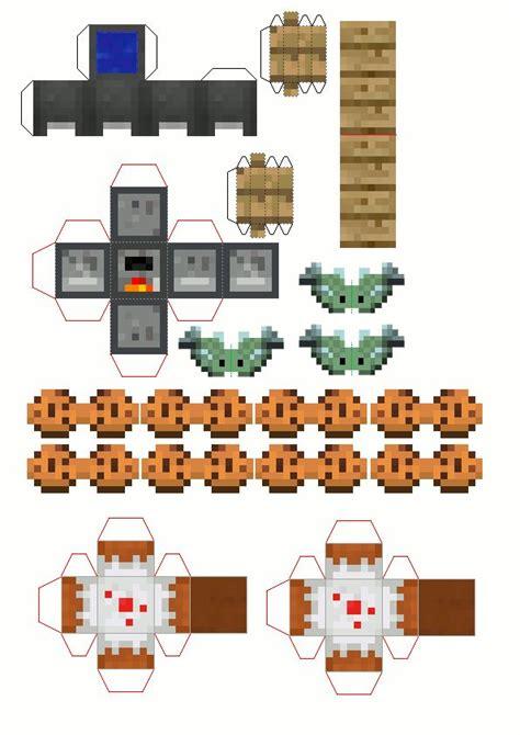 papercraft fourth floor   mini house kitchen minecraft crafts minecraft printables
