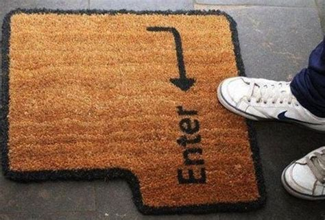 Enter Key Doormat by Door Mats With Personality Abode