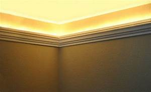 Crown Molding For Indirect Lighting Install Led Rope And Indirect Lighting In Foam Crown Molding