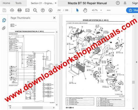 mazda bt workshop repair manual