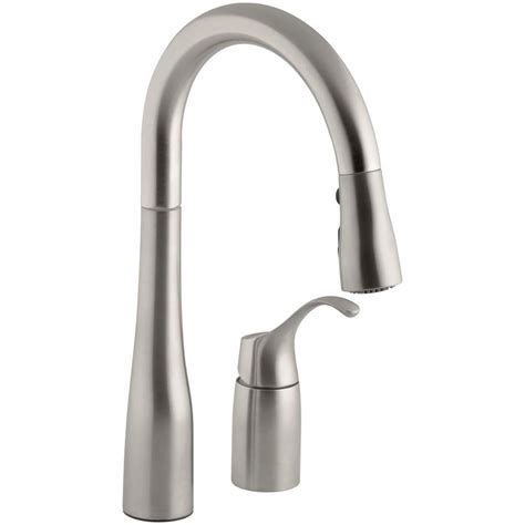 single handle pull kitchen faucet kohler simplice single handle pull sprayer kitchen