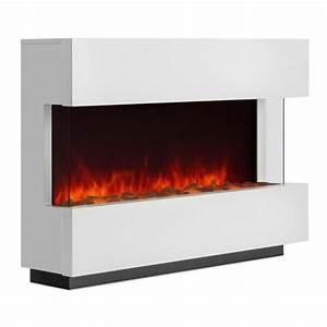 Elektrischer Kamin Weiß : studio 1 elektrischer kamin led flammensimulation 750 1500 w 40m wei klarstein ~ Frokenaadalensverden.com Haus und Dekorationen