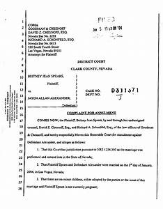Britney spears files for annulment the smoking gun for Annulment documents online