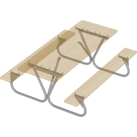 picnic table frame kit pilot rock picnic table frame kit model btug fr