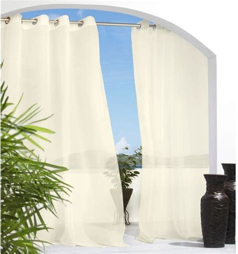 cote d azure semi sheer outdoor curtain outdoor products