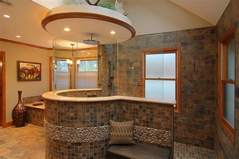 custom bathroom design custom tile master bath eclectic bathroom st louis