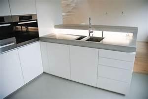 Arbeitsplatte Küche Beton : van google and countertop materials on pinterest ~ Watch28wear.com Haus und Dekorationen