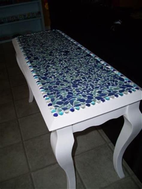 sea glass table ls seaglass table top i want to make one of these as a bar 5091