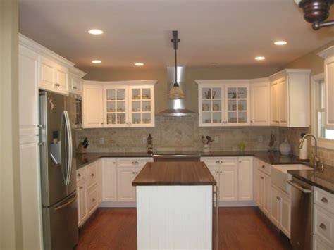 nice  shaped kitchen design ideas  epic home