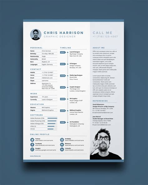 Stylish Cv Template Free by Working Creative 10 Free Resume Templates For Designers