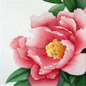 Flower Watercolor Painting Peonies