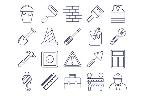Set Of High Quality Free Construction Icons Wooskins