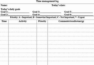 5 free time management forms With time management documents download