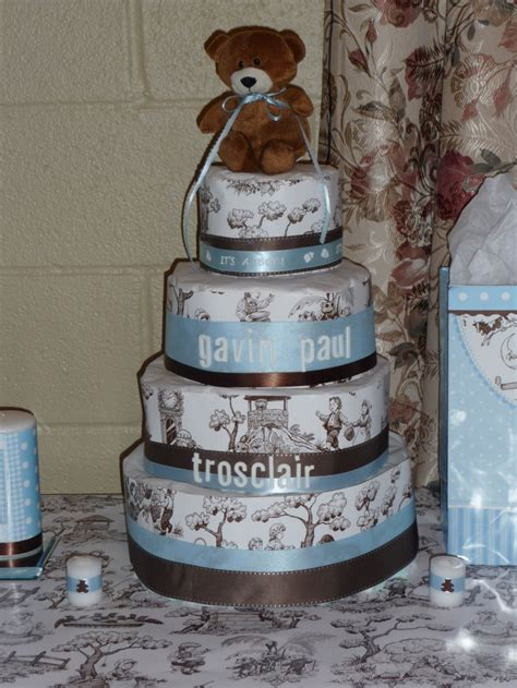diaper cake  diapers wrapped  tissue paper