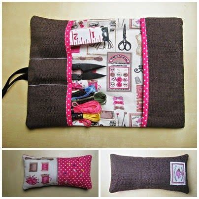 Selber Nähen Tipps by N 228 Hetui Z T Aus Vorhang Sewing Pouch Partly Made From