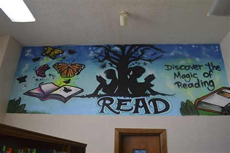 school library sar wall decors